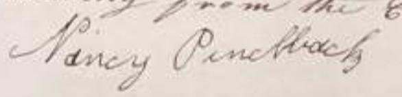 Nancy Pinchback signature